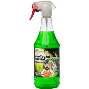 TUGA CHEMIE Alu-Teufel Spezial® Felgenreiniger-Gel pH-neutral, Felgenreiniger-Gel für die Reinigung von Felgen und Radkappen, 1000 ml - Flasche