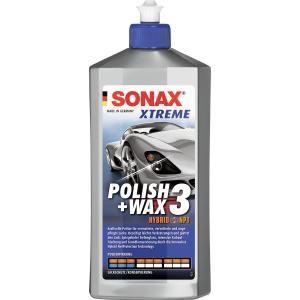 SONAX Lack-Politur XTREME Polish + Wax 3 Hybrid NPT, Kraftvolle Politur für vermattete, verwitterte und ungepflegte Lacke, 500 ml - Flasche