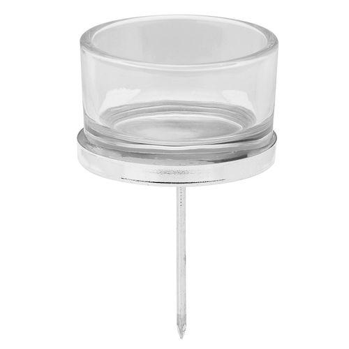 Kerzenhalter, silber, 5 cm Ø, 4 Stück