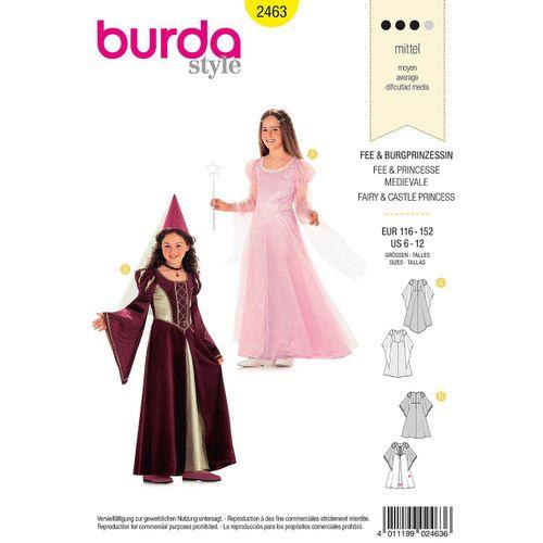 """burda Schnitt 2463 """"Burgfräulein & Prinzessin"""" für Mädchen"""