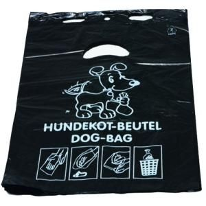 DEISS HDPE Hundekotbeutel, Zum einfachen und hygienischen Entsorgen von Hundekot, Block á 50 Beutel, schwarz