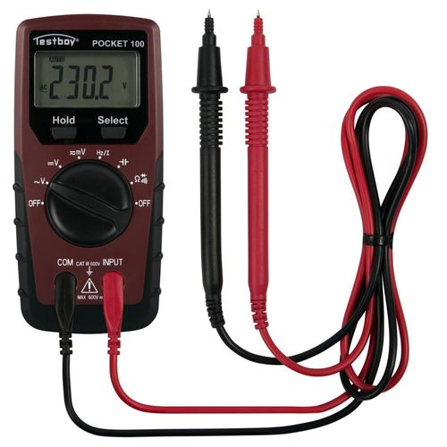 testboy Multimeter Pocket 100 - CAT III 600 V