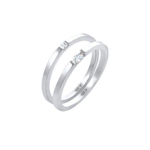 ELLI Ring 'Kristall Ring' silber