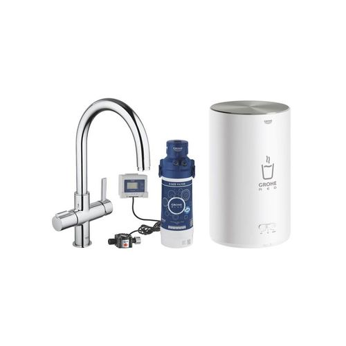 Grohe red nordic duo kitchen faucet