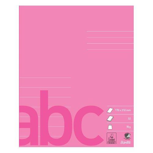 Bantex School Exercise Book 17X21 7 Lines Pink