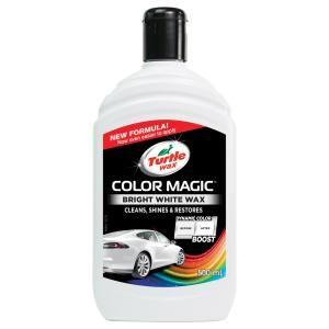 TURTLE WAX COLOR MAGIC Autowachs, 500 ml, Perfekter Wachs für die Autopolitur, Farbe: weiß