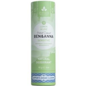 BEN&ANNA Pflege Deodorant PaperStick Natural Deodorant Stick Sensitive Lemon & Lime 60 g