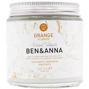 BEN&ANNA Zahnpflege Zahnpasta im Glas Zahnpasta Orange mit Fluoride 100 ml