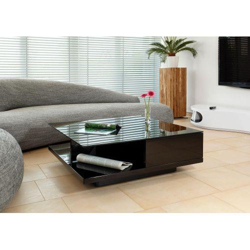 SalesFever Couchtisch, mit Tischplatte aus gehärtetem Kristallglas schwarz Couchtisch Couchtische Tische Möbel sofort lieferbar