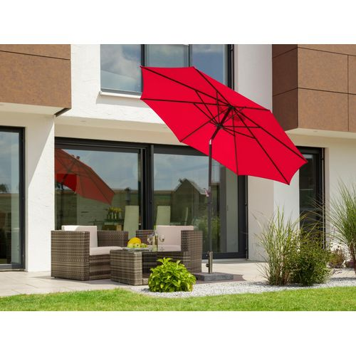 Schneider Schirme Sonnenschirm Harlem, ohne Schirmständer rot Sonnenschirme -segel Gartenmöbel Gartendeko