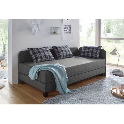 Maintal Gästebett, mit Umbau und Bettkasten grau Gästebett Polsterliegen Gästebetten Betten