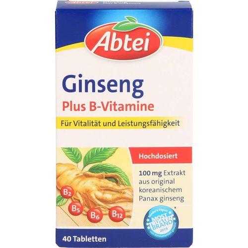 ABTEI Ginseng Plus B-Vitamine Tabletten 40 St.