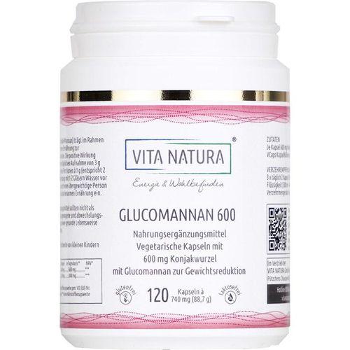 KONJAKWURZEL Glucomannan 600 mg Vegi-Kapseln 120 St.