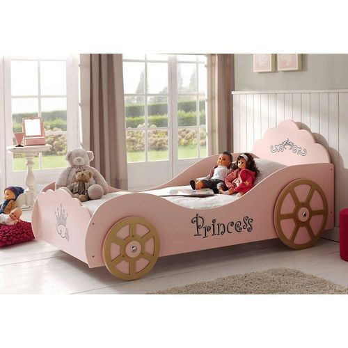 Vipack Kinderbett, mit Lattenrost rosa Kinder Kinderbett Kinderbetten Kindermöbel