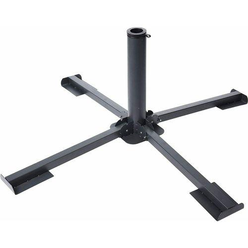 Meinposten Schirmständer »Plattenständer Sonnenschirm Metall grau Ständer für 40x40 Platten