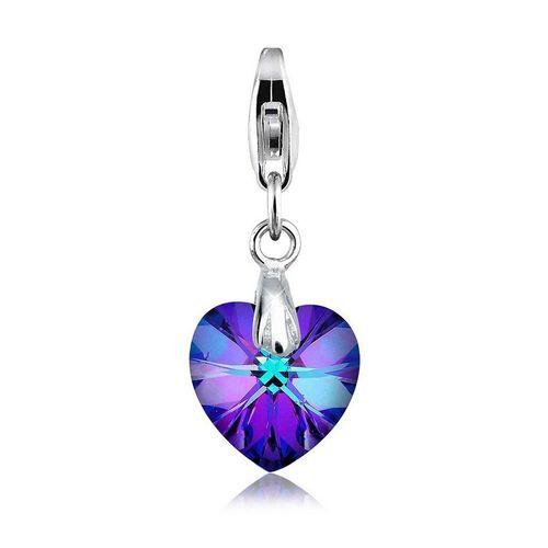 Elli Charm-Einhänger »Herz Love Kristalle 925 Sterling Silber