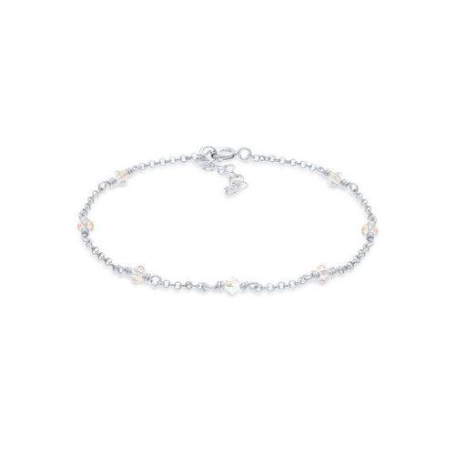 Elli Armband »Elegant Kristalle 925 Silber«, Kristall Armband, silberfarben