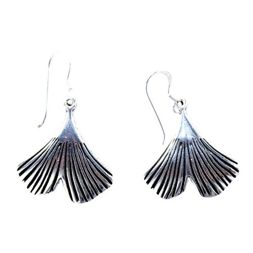 Kiss of Leather Ohrhänger-Set »Ohrring Ohrhänger Ginkgoblatt Ginkgo Blatt Ohrringe aus 925 Sterling Silber