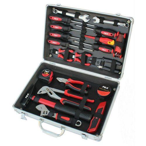 P & K Werkzeugkoffer »P & K 30 teiliger Alu Werkzeugkoffer« (30 Stück)