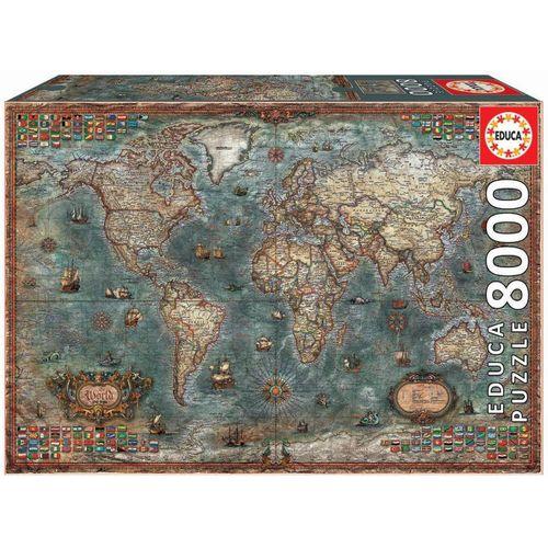 Educa Puzzle »HISTORISCHE WELTKARTE«, 8000 Puzzleteile