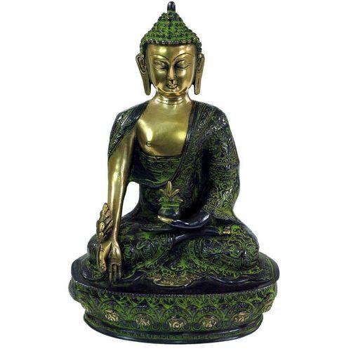 Guru-Shop Buddhafigur »Buddha Statue aus Messing Medizin Buddha 31 cm..«