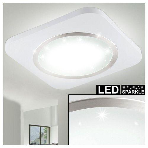 EGLO LED Einbaustrahler, LED Kristall Effekt Decken Leuchte Aufbau Strahler Lampe weiß Wohn Zimmer Beleuchtung Eglo 97661