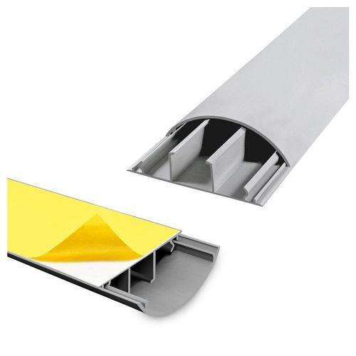 ARLI Kabelkanal »1m halbrund selbstklebend 70 x 20 mm grau Kabelbrücke Fussboden Boden oder TV Kabelkanal Wand 1181« (1-St)
