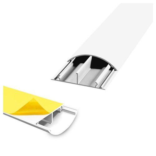 ARLI Kabelkanal »1m halbrund selbstklebend 50 x 12 mm weiss Kabelbrücke Fussboden Boden oder TV Kabelkanal Wand (4er Pack) - 11794« (4-St)