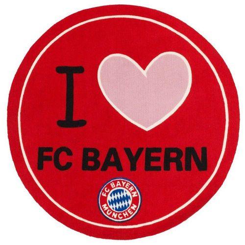 Teppich »FC Bayern Runder Teppich 1.00 x 1.00 m Fussball Fan Lizensware«, Böing Carpet, Rund, Höhe 5 mm