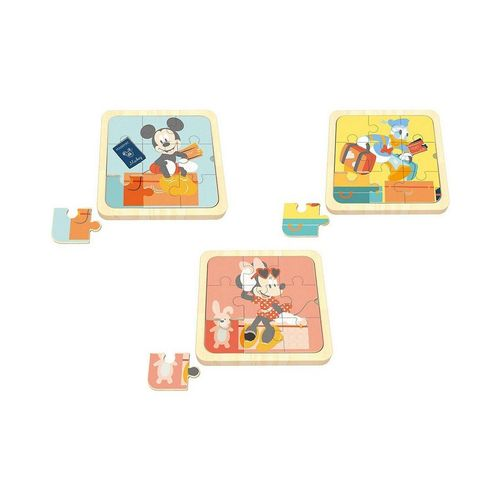 Disney Mickey Mouse Puzzle »3 in1 Mini Puzzle, Mickey Mouse, Minnie Mouse,«, Puzzleteile