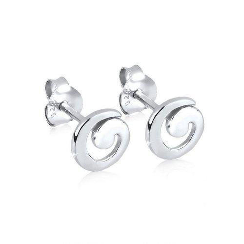 Elli Paar Ohrstecker »Spirale Geo Basic Verspielt 925 Silber«, Spirale, silberfarben