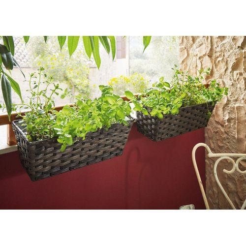 HomeLiving Blumentopf »Polyrattan
