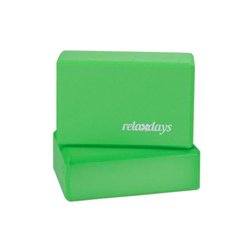 relaxdays Yogablock »2 x Yogablock grün«