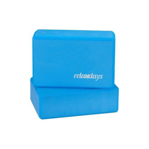 relaxdays Yogablock »2 x Yogablock blau«