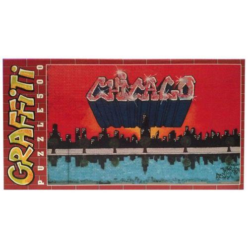 """Clementoni® Steckpuzzle »Clementoni Graffiti Puzzle 500 Teile """"Chicago"""""""