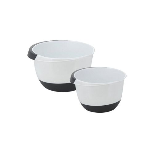 BigDean Rührschüssel »Set 3,5 & 2,0 Liter mit Stoppboden Schüsseln Schüssel Backschüssel Teigschüssel Kochschüssel«, Kunststoff