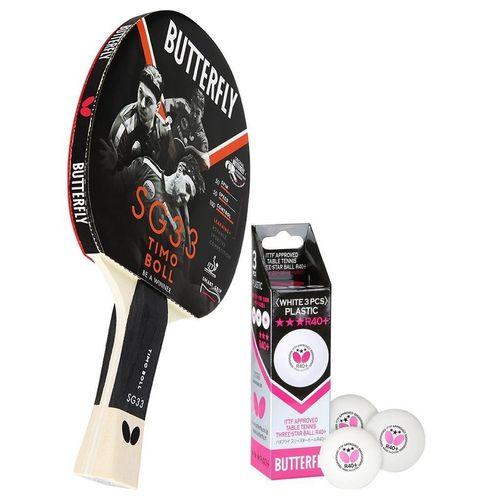 Butterfly Tischtennisschläger »1x Timo Boll SG33 + Bälle«