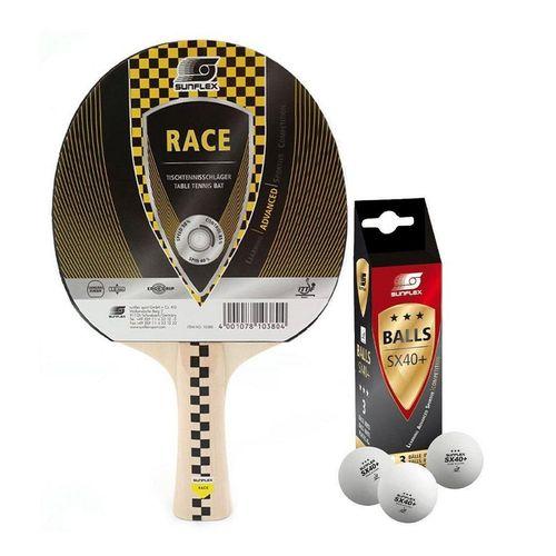 Sunflex Tischtennisschläger »Race + 3x SX+ Bälle«