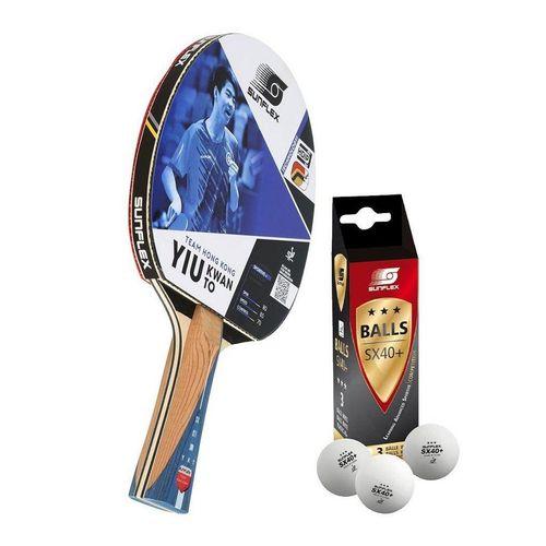 Sunflex Tischtennisschläger »TEAM YIU KWAN TO + 3x SX+ Bälle«