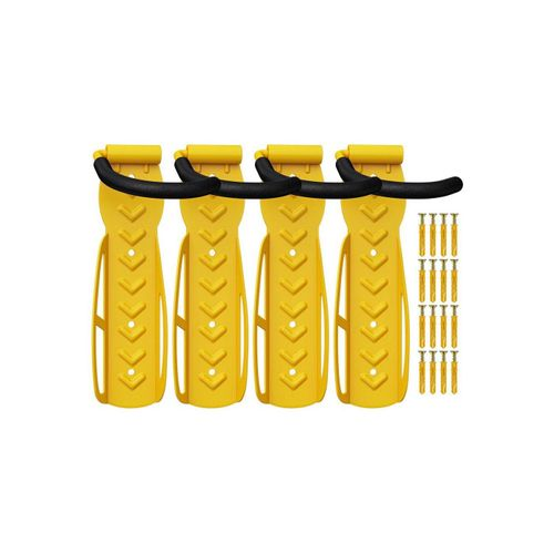 Wellgro Fahrradhalter »4 x Wand Fahrradhalter - Stahl Fahrrad Wandhalterung - Fahrrad haken - Fahrradständer - Ständer«, gelb