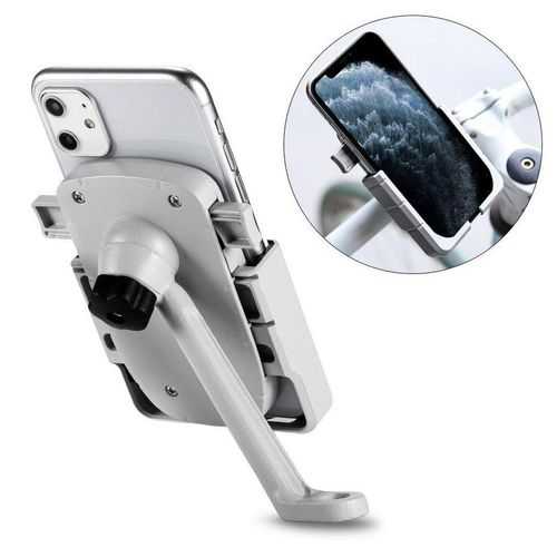 cofi1453 »cofi1453® 360 Grad Verstellbarer Halterung Universal Fahrrad Handyhalterung für Rückspiegel Halter Fahrrad Fahrradhalterung für Smartphones« Smartphone-Halterung, weiß