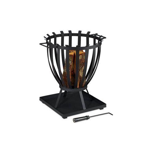 relaxdays Feuerkorb »Feuerkorb XXL mit Bodenplatte«
