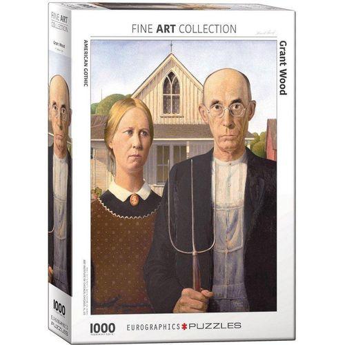 empireposter Puzzle »Grant Wood - American Gothic - 1000 Teile Puzzle im Format 68x48 cm«, 1000 Puzzleteile