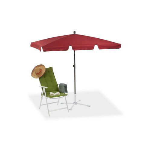 relaxdays Sonnenschirm »Rechteckiger Sonnenschirm für den Garten«