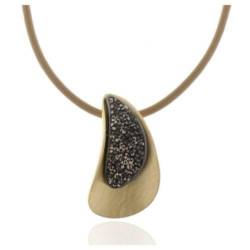 J & S JULIASS WELT Collierkettchen »Collier vergoldet mit Kristallsteinen