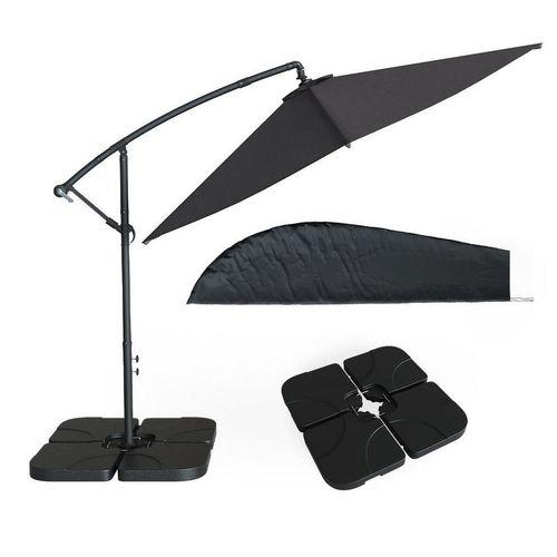 OK-Living Ampelschirm »Sonnenschirm 300cm Set inkl. Schutzhülle + Schirmständer befüllbar«