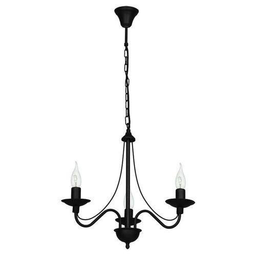 Licht-Erlebnisse Kronleuchter »ROSABELLA«, Schwarzer Kronleuchter Metall rustikal Esstisch Wohnzimmer Lampe