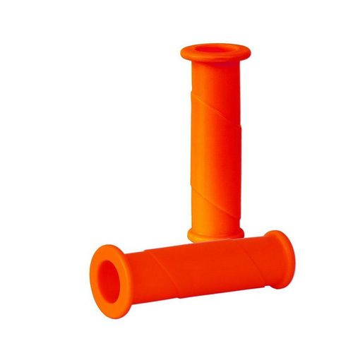 BigDean Schubkarre »2x Schubkarren Universal Griffe − 14 cm Länge − 30 mm Innendurchmesser − Rundrohre ORANGE Karrengriff Schiebkarre Schubkarrengriffe Sackkarre«, orange