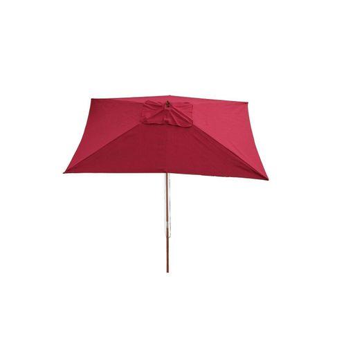 MCW Sonnenschirm »Lissabon«, Handseilzug, Befestigungsmöglichkeit in 3 verschiedenen Höhen, rot