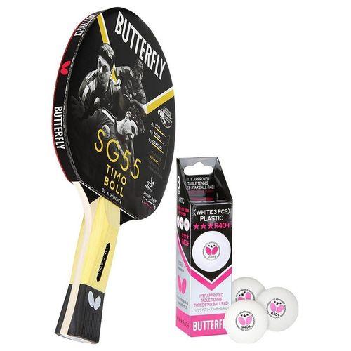 Butterfly Tischtennisschläger »1x Timo Boll SG55 + Bälle«